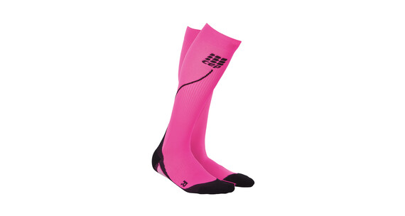 cep Run Socks - Chaussettes course à pied Femme - rose/noir
